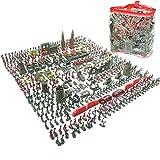 LGRQWER 519 Stück Army Men Spielset Für Kinder Jungen Spielzeug Soldaten Military Action-Figuren in Kampf WW2 Ära, Militärischen Krieg Szene Spielzeug,A