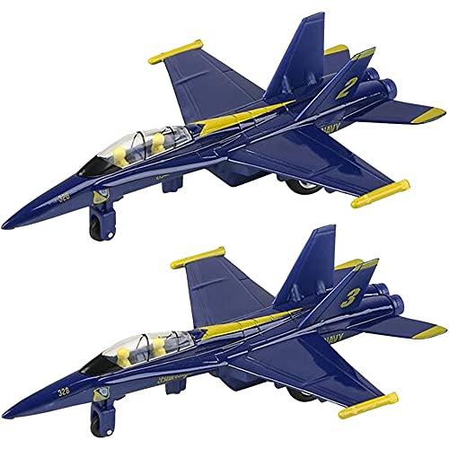ArtCreativity Jumbo Diecast F-18 Blue Angel Jets with Pullback Mechanism, Set of 2,...