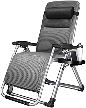 ADHW Recliner,Recliner Chairs Outside,with Cup and Phone Holder,Outdoor Garden Rocking Chair Relaxing Chair,Sun Lounger (Size