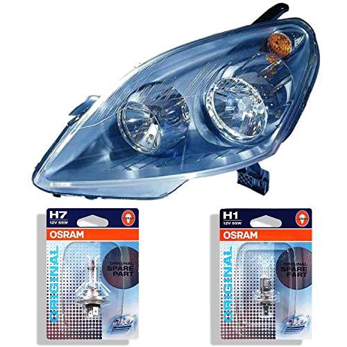 Scheinwerfer rechts Zafira B Bj. 05-12 H1+H7 inkl. OSRAM Lampen