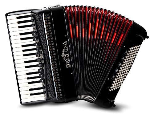 Beltuna Studio IV 37/96 M Compact Accordeon (37 Diskant-toetsen, 4-kantig, 96 bassen, inclusief riemen en koffer) zwart