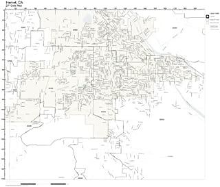 ZIP Code Wall Map of Hemet, CA ZIP Code Map Laminated