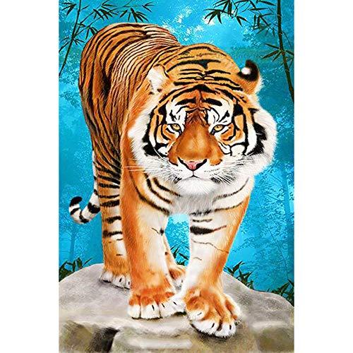 ZFSDD 5D Diamond Painting Mosaic DIY Diamond Embroidery Big Tiger Cross Stitch Kit Home Decor Round Drill 40X50Cm