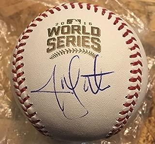 Jon Lester Autographed Signed Auto 2016 World Series Baseball Ball Cubs Memorabilia JSA COA