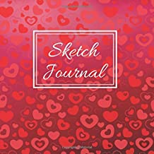 Floating Red and Pink Hearts Cute Gift Sketch Book : Blank Paper Pad Journal for Sketching Coloring or Writing: Appreciation Present Creative Space ... (Under $10 Gift Books: Card Alternatives)