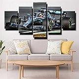 IIIUHU Bilder Abstrakt 5 Teilig Wandbild XXL Formel 1