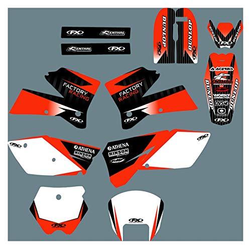 Yhfhaoop DST0297 Calcomanías de Motocicleta 3M Personalizadas Pegatinas Gráficos Gráficos Kit de decancia gráfica para KTM SX 2005-2006