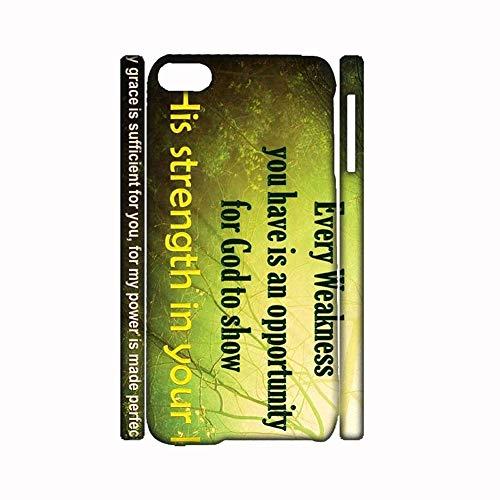 Creative Phone Case Hard Rigid - Carcasa de plástico compatible con iPhone 6 y 6S (4,7 pulgadas, con cifras Bible para niña)