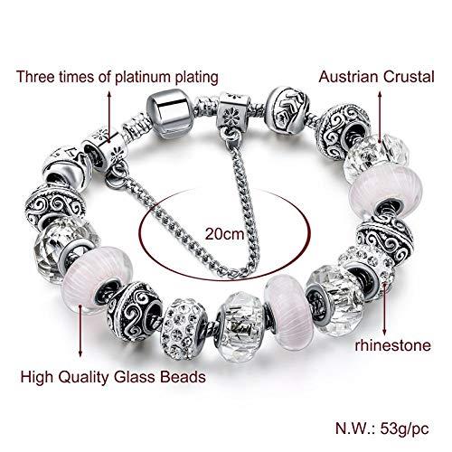 Armband sieraden Europese Witte Kralen Bedelarmbanden Voor Vrouwen Zilveren Armbanden En Armbanden Diy Sieraden Pulseiras