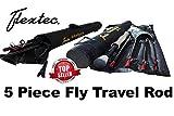 Flextec Oscar 5-teilige Fliegenrute, 2,7m, für Forellen, Karpfen, mit Cordura-Tasche, in Größen 5/6, 6/7, 7/9 9ft 5 piece # 5/6