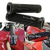 7/8' Motociclo Manopole, Moto Manubri Alluminio Gomma per CBR Shadow Ninja GSXR YZF (Nero)