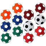 CLISPEED 16 Unidades de Mesa de Repuesto de Futbolín Mini Pelotas de Fútbol Coloridas Juego de Mesa Oficial Mesa Fútbol Fútbol 36Mm