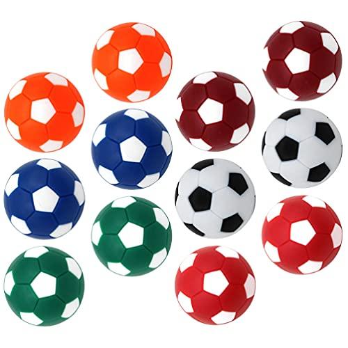 ABOOFAN 16 Piezas de Bolas de Mesa de Futbolín de Repuesto de Bolas de Fútbol de Mesa para Futbolín de Mesa Juego de Accesorios de Fútbol 36Mm