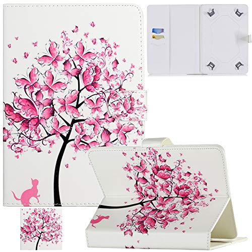 Artyond Universal 7.0' Tablet Case, PU Leather Folio Stand Cards Slots Case for Galaxy Tab E 7.0/ Tab A 7.0/ Fire 7.0 /Google/KOBO/RCA/ASUS/Android 7.0 and More 7.0 inch Tablet PC (Pink Tree)