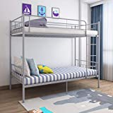 Panana 3FT Single Bunk Bed Metal Bed Frame Twin Sleeper for Children Bedroom Dormitory Apartmentavailable in White Black, Silver