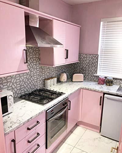 Vinilo Pegatina Muebles de Cocina, PVC Engomada Autoadhesivo Protege o Decora Armario y Aparatos Eléctricos, Papel Pintado para...