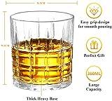 Homii Whisky Gläser, Whiskeygläser aus Kristall Set Geschenk, 2-teiliges,300ml - 2