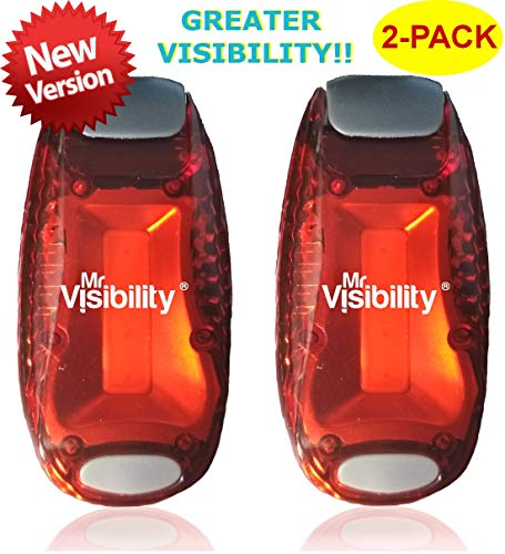 LED Safety Light 2-Pack | Clip On Strobe Flashing Running Lights for Runners, Night Walking, Dogs, Bike | The Brighter High Visibility Reflective Gear for Cycling Accesories, Dog Collar, Vest, Kids