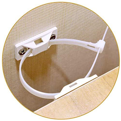 Furniture Straps Baby Proofing Anti-Kipp-Wände (12 Stück) Proofing Anti-Kipp-Möbelanker-Set, verstellbare Kindersicherheitsgurte, Erdbebenresistent, Anti-Ausfallen, sicheres Bücherregal, Schrank