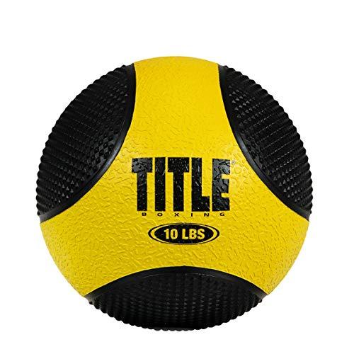 Title Boxing Rubber Medicine Balls, Grey/Black, 12 lbs