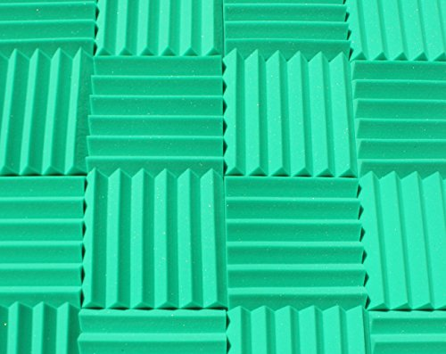 Soundproofing Acoustic Studio Foam - Kelly Green Color - Wedge Style Panels 12