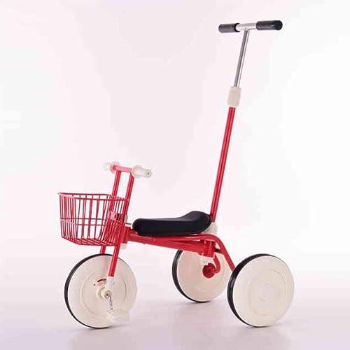 Landau Tricycle pour Enfants 1-3-5 Ans Vélo Préscolaire Léger De Vélo D'équilibre De Jouet d'enfant De Trike d'enfants,rouge1