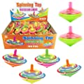Value Bundle - 100 Pieces LED Light Up Flashing Mini Spinning Tops with Gyroscope - Kids Novelty Bulk Spin Toys Party Favors from Liberty Imports