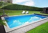 well2wellness® Schwimmbecken/Styroporbecken - Ocean Brick Poolsystem Set 74974' für Beckengröße: 7,0 x 3,5 x 1,5 m
