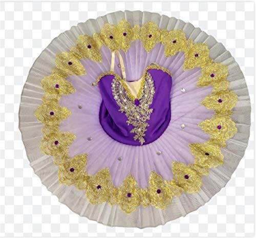 ZLYY La Bailarina del tut del Ballet nias para los nios del nio del Partido de la Bailarina de los nios Trajes de Baile del Ballet,Prpura,130CM