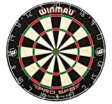 Winmau Pro SFB Bristle Dartboard Best-in-Class Durability and Performance, Galvanised Steel Round-Wire, CNC