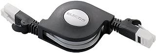 エレコム LANケーブル 1.5m ツメが折れない 巻取 CAT6 ブラック LD-MCTGT/BK