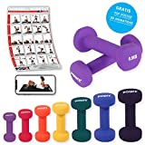 Neopren Hanteln Gewichte für Gymnastik Kurzhanteln 0,5 kg - 5 kg oder Set komplett (2 x...