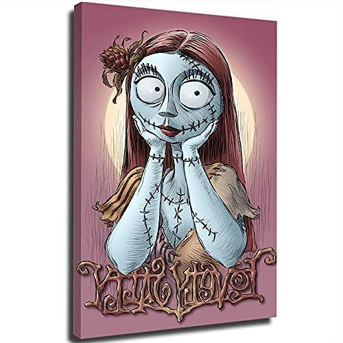 Nightmare Before Christmas - Poster semplice ed elegante, motivo: Sally is Meditating Art, stampa artistica da parete di dipinti ad olio, per decorazioni domestiche, 30,5 x 45,7 cm