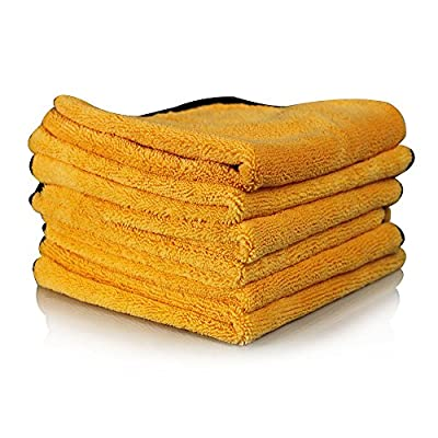 Chemical Guys MIC_507_06 Professional Grade Premium Microfiber Towel, Gold (16 in. x 24 in.) (Pack of 6)