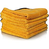 6-Pack Chemical Guys MIC_507_06 16 Inch X 24 Inch Professional Grade Premium Microfiber Towel (Gold)