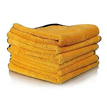 Chemical Guys MIC_507_06 Professional Grade Premium Microfiber Towel Gold  16 in x 24 in   Pack of 6