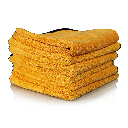 Chemical Guys MIC_507_06 Professional Grade Premium Microfiber Towel, Gold (16...