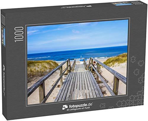 Puzzle 1000 Teile Strand in Westerland, Sylt, Deutschland - Klassische Puzzle, 1000 / 200 / 2000 Teile, edle Motiv-Schachtel, Fotopuzzle-Kollektion 'Deutschland 2'