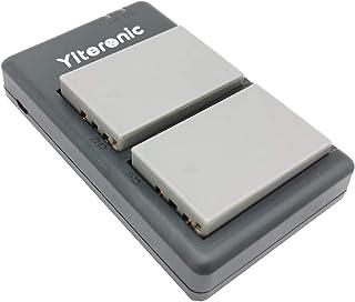 Yiteronic BLS-5/BLS-50 互換バッテリー 2個+充電器 対応機種 Olympus BLS5/BLS50,OM-D E-M10 Mark III,OM-D E-M10 Mark II,OM-D E-M10,E-410,E-420,E-620,E-P1, E-P2,E-P3,E-PL1,E-PL1s,E-PL2,E-PL3,E-PL5,E-PL6,E-PL7,E-PL8,E-PL9,E-PM1,E-PM2,Stylus 1 に対応