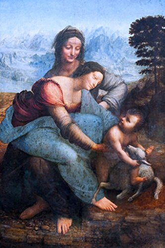 Leonardo Da Vinci The Virgin And Child With St Anne 1503 Oil On Wood Painting Poster 12x18