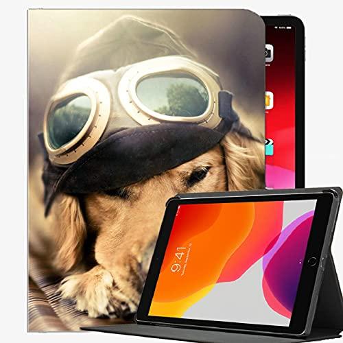 para iPad Mini 1/2/3 Cubierta de la Caja de la Caja de 7,9 Pulgadas, Piloto de Perro Plano Gafas de Sol Funda Slim Shell Funda para iPad Mini 7.9 Pulgadas