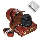 First2savvv PU cuir étui housse appareil photo numérique pour Canon EOS M100 avec...