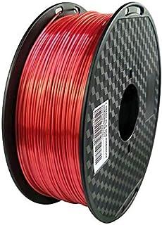 Lei Zhang Silk Pla 3D Printer Filament 1.75mm Silky Gold 3d Pen Printing Filament Metal Metallic Material (Color : Red, Si...