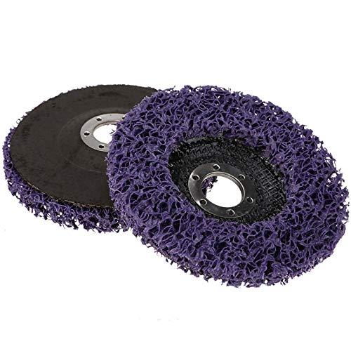 SSXPNJALQ Schleifwerkzeuge Schleifscheiben Farbe Rust Removal Clean for Winkelschleifer Poly-Streifen Disc Durable Lila Grinder Rad 125mm 1PC (Color : 2pc 125mm)