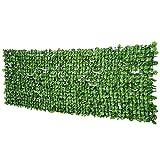 Outsunny Rotolo di Siepe Finta per Balcone e Giardino in PE, Siepe Artificiale con Foglie di Acero Verdi 300x100cm