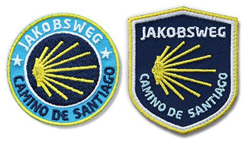 Club of Heroes 2er-Set Jakobsweg Abzeichen gestickt - Camino de Santiago/Patches für...