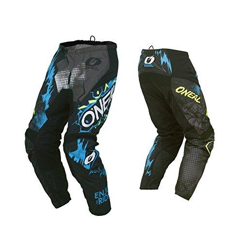 O'NEAL | Motocross-Hose | Enduro Motocross | außergewöhnliche Bewegungsfreiheit, Vollständig gefüttert, Schutzpolster aus Gummi für Extra Schutz | Pants Element Villain | Erwachsene | Grau | Größe 34