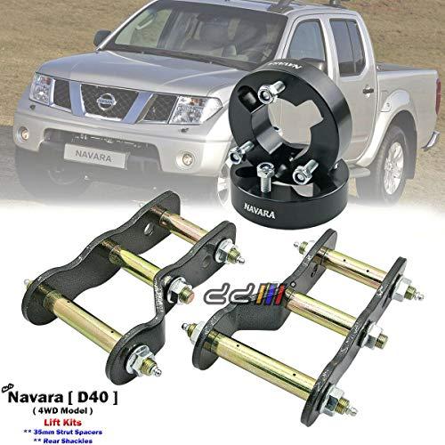 WAY2TUFF 35mm Front Strut Spacer Suspension lift Kit for Nissan Navara D40 05-13