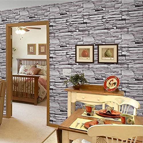 TFJJSQA Sonder/Schlicht Retro PVC Antike Backsteinmauer Tapete 3D Dreidimensionale Esszimmer Wohnzimmer Tapete 53 * 1000 cm 9993 (Color : 9991, Size : 53 * 1000cm)