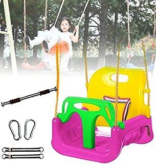 GBHJJ 3-i-1 barn gungsäte, inomhus gungstol, småbarn sväng säte hängande gunga set för lekplats gunga set, spädbarn till t...